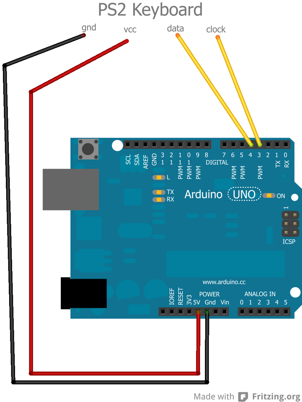 Arduino use a ps keyboard erwan s