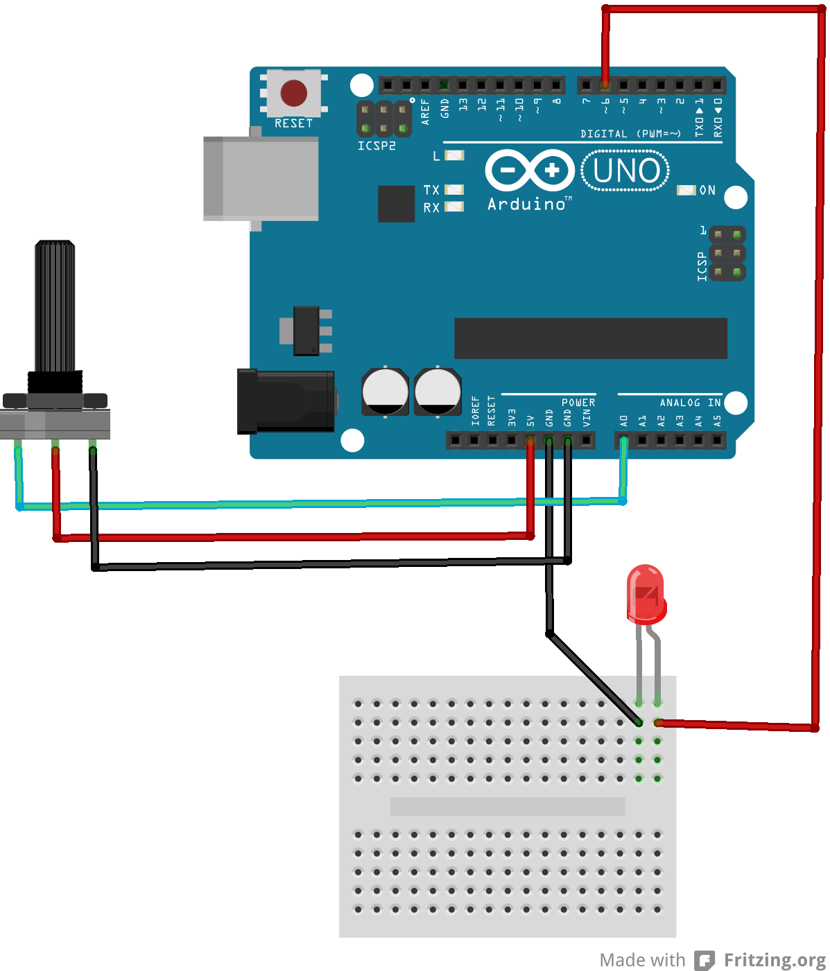 Arduino play with a potentiometer erwan s