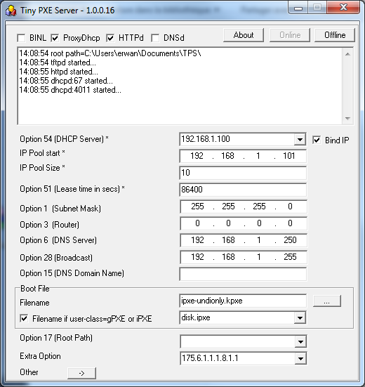 TinyPXE Server – Page 2 – Erwan's Blog