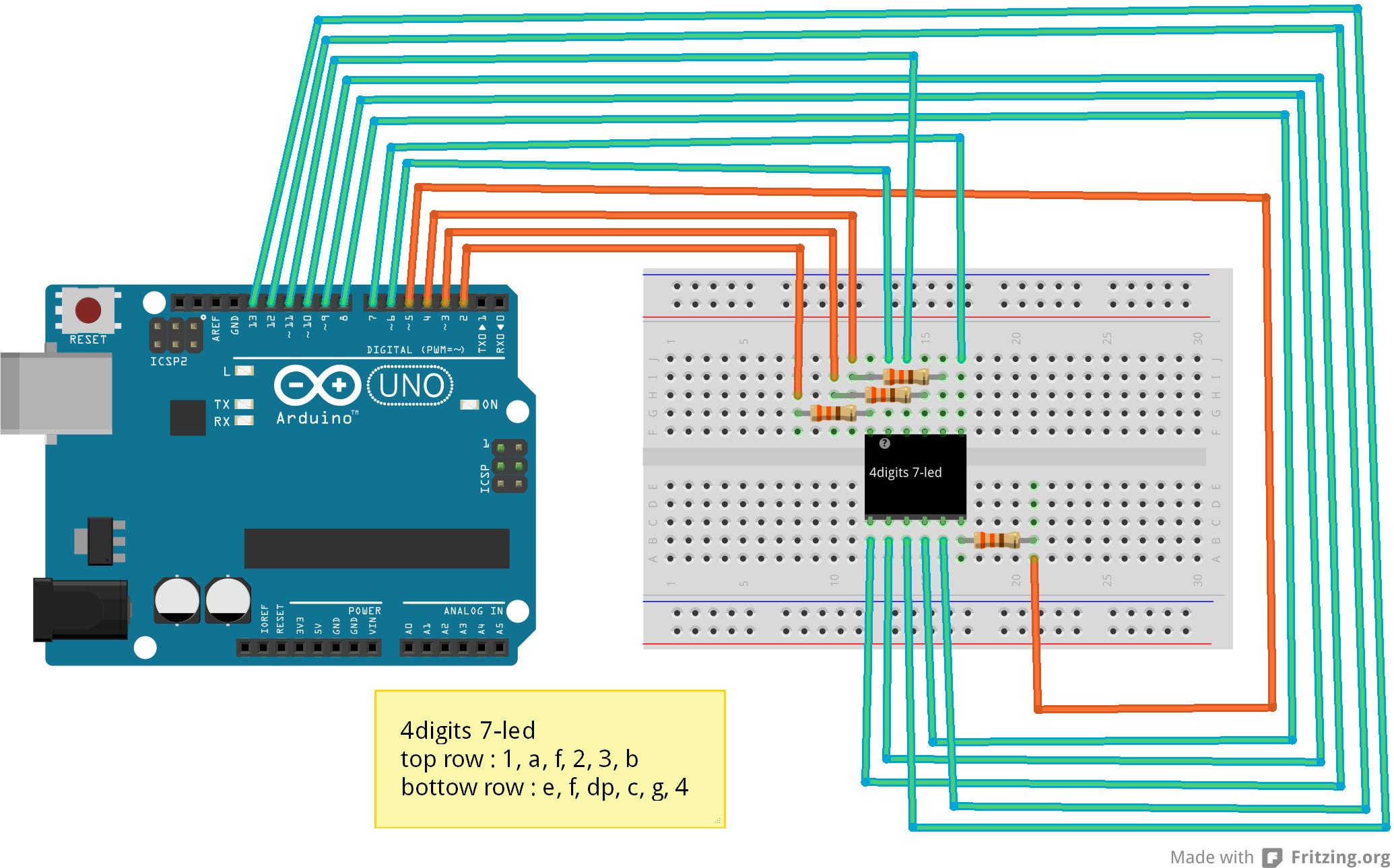 Arduino einfache 7-Segment